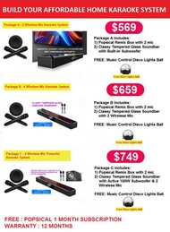 [SOLD OUT] HOME KARAOKE SYSTEM with POPSICAL REMIX and SOUNDBAR