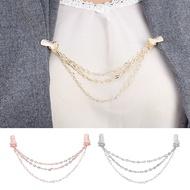 Multilayer Chain Duck Clasp Collar Shawl Cardigan Clip