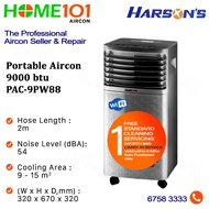 Harsons WIFI Enabled Portable Aircon With Ioniser and Hepa Filter 9000BTU PAC-9PW88 *NO INSTALLATION* - FREE ONE TIME STANDARD CLEANING