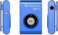 MP3 Player IPX8 Waterproof Swimming Diving Sports MP3 Music Player with Clip & Earphone, Support FM, Memory:8GB(White) (Color : Blue)