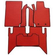 Extramat ยางปูพื้น ลายกระดุมเกรดพรีเมี่ยม สีแดง ขอบดำ Ford ranger รุ่น 4ประตู ปี2012-19