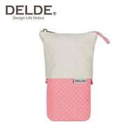粉色款【日本正版】DELDE 點點系列 帆布 伸縮筆袋 筆筒 鉛筆盒 收納包 sun-star - 489643