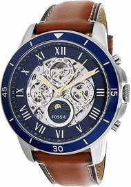 Fossil Men's Grant ME3140 Silver Stainless-Steel Automatic Dress Watch