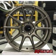 【超前輪業】經銷專賣 新款 ENKEI SC46 SC-46 17吋鋁圈 4孔100 5孔114.3 100 古銅色