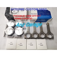 Piston Wiseco 82.5mm 4g93 High Compression Offset + Conrod Duratech 140mm