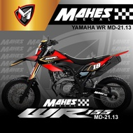 Decal Sticker Motor Cross WR155 Fullbody - Dekal Stiker WR 155 Desain Trail MD 21-13