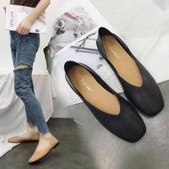 รองเท้าคัชชู หนังนิ่ม  3สี ไตล์เรียบๆ AAiรองเท้าคัดชู รองเท้าคัทชู หนัง หญิง ส้นกลมสูง องเท้าดำ รองเท้าชุมชน รองเท้าพยาบาล รองเท้าส้นเตี้ยหัวตัด แบบเปิดส้น รองเท้า คัชชูเจลลี่ รองเท้าผู้หญิง สวย นุ่มสบายเท้า