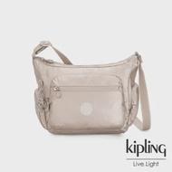 【KIPLING】都會時尚霧玫瑰金多袋實用側背包-GABBIE S