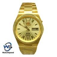 Orient 3 Star SEM1T011G8B 21 Jewels Automatic Gold Color Classic Men s Watch SEM1T011G8