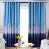 MUL มู่ลี่ ผ้าม่านประตู ผ้าม่านหน้าต่าง (ผ้าหนา) กว้าง 1.0 X สูง 2.5 เมตร ผ้าม่านสำเร็จรูป ม่านตาไก่ หน้าต่าง ประตู ผ้ากันUV กันแดด ผ้าม่าน ม่าน