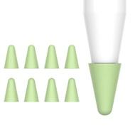 สำหรับ Apple Pencil Nib ฝาครอบกันขีดข่วน12รุ่นซิลิโคนฝาครอบป้องกันปากกา Ipad ฝาครอบอะไหล่ Tip 8-Pack
