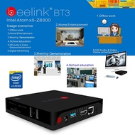 NEW Original Beelink BT3 Windows 10 TV Box Intel Atom x5-Z8300 4K 3D 2G/32G Mini PC XBMC 1000M LAN 2.4G/5.0G Wifi Miracast Airplay DLNA Bluetooth 4.0 USB 3.0 HD Media Player