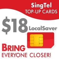 SingTel LocalSaver $18 Top-Up