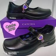 CATCHA รองเท้านักเรียน รองเท้านักเรียนCATCHA รองเท้านักเรียนสีดำเด็กผู้หญิง รองเท้านักเรียนเด็กผู้หญิง รองเท้าคัชชูเด็กผู้หญิง รุ่น CX03