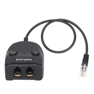 RJ9 Handset/Headset Adapter TWO Mute Switch and TWO Volume Adjuster RJ9 Plug To Female Dual RJ9 Splitter