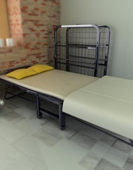 Foldable Metal Bed W Mattress Package