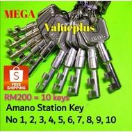 Amano Key / Clock Key / Amano Station Key / Key / Amano Key