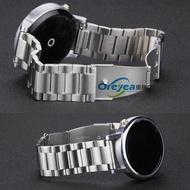 摩托MOTO360二代46男款黑色手表表帶ticwatch1代精鋼帶2022m1入
