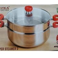 09e Supra Steamer 32 cm / 32cm Steamer 2 Stacking Stainless Steel Steamer