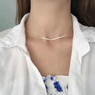 Omega Inspired Gold Necklace