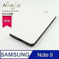 【東京御用Ninja】SAMSUNG Galaxy Note 9 (6.4吋)經典瘋馬紋保護皮套(白色)
