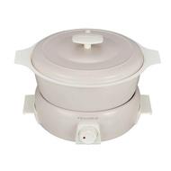 recolte Tanto調理鍋1.9L/ 簡約白 (附章魚燒烤盤)