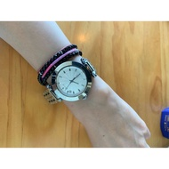日本 GUESS 原廠石英表白鋼錶帶 石英女裝手錶