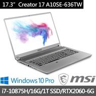 小易筆電批發【MSI 微星】Creator 17 A10SE-636TW 17吋 4K輕薄創作者筆電 i7-10875H