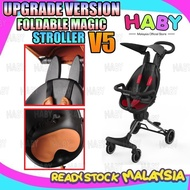 🎊10.10 SALE🎊 HABY Kids V5 Ultra Lightweight Foldable Portable 2 Way Magic Stroller