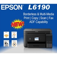 """Epson L6190 Wi-Fi Duplex All-in-One Ink Tank Printer with ADF Ecotank Print /Scan/Copy/Fax/ 2.4""""Colour LCD Touch ADF"""