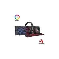 【限時促銷】【MARVO】歐洲魔蠍 電競鍵盤組合 電競鍵盤+滑鼠+耳機+滑鼠墊-中文版 RGB 4段dpi CM370