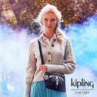 【KIPLING】冰雪奇緣2限量雪花圖騰 輕巧隨身斜背包- RAINA