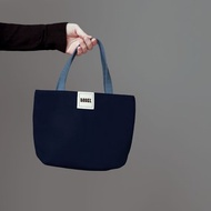 簡約跳色 帆布小手提袋 / 便當袋 / 藏藍+莫蘭迪藍