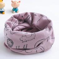 【童話飾界】親子款薄料-百搭套頭圍巾兒童圍脖-脖套口罩帽子頭巾(動物園/嫣紫)