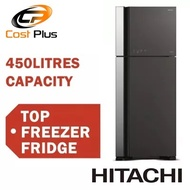 HITACHI RVG560P3MS 2 DOOR TOP FREEZER FRIDGE 450L  * FREE DELIVERY