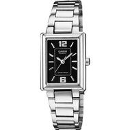 Casio นาฬิกาข้อมือผู้หญิง หน้าเหลี่ยมยาว สายสแตนเลส รุ่น LTP-1238