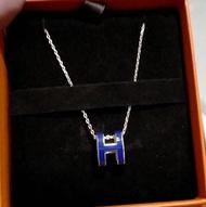 愛馬仕Hermes pop h項鍊 藍配玫瑰金 超美顏色 附盒子 $1xxxx/條💜