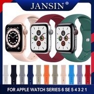 Sport Silicone Strap For Apple Watch Series 6 SE 5 4 3 2 1 For Apple Watch Band 40mm 38mm 42mm 44mm Bracelet Wrist Belt Watchband S/L