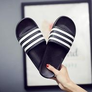 拖鞋-夏天拖鞋男潮男女一字拖室內外情侶塑料涼拖鞋防滑三桿條紋沙灘鞋 愛麗絲精品