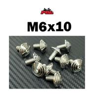 น็อตคอนโซลก้นหอย เบอร์10 (M6) น็อตไทเท น็อตทอง น็อตเลส ราคาต่อตัว แบรนด์2M