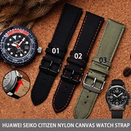 Suitable for huawei seiko citizen nylon canvas watch strap