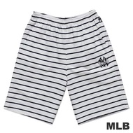 MLB-紐約洋基隊電繡條紋運動短褲-白(男)
