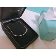 專櫃TIFFANY T smile 鑽石 玫瑰金 微笑項鍊 最佳禮物 結婚禮物