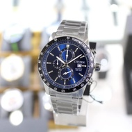 CITIZEN AN3600-59L 三眼計時 藍面
