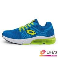 【LOTTO】童鞋  SUPERLITE 氣墊跑鞋(藍綠-LT0AKR1615)