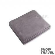 SNOWTRAVEL POLARTEC透氣保暖旅用毛毯 (灰色) 蝦皮24h 現貨 款式 STAR017-GRY