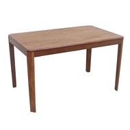 【專業傢俱】傑克4.3尺淺胡桃實木餐桌/長方桌/會議桌/實木桌/洽談桌/全新品【桃園以北免運費】