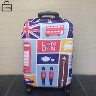 "Facy   Luggage Cover Size M ผ้าคลุมกระเป๋าลาย London สำหรับกระเป๋าเดินทางขนาด 24"""