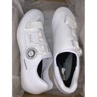 『時尚單車』shimano SH-RC500 公路車鞋 卡鞋 RC5 BOA旋鈕 寬版 白色