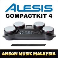 Alesis CompactKit 4 - Portable Tabletop Electronic Drum Kit